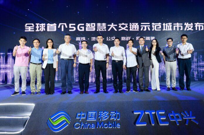ZTE e China Mobile annunciano la prima dimostrazione di una città con trasporto intelligente 5G