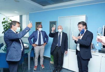 Imprese: il governatore campano De Luca visita sede NetCom Group