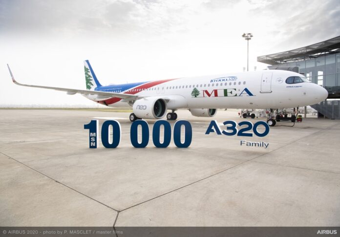 Airbus consegna l'A320 alla Middle East Airlines