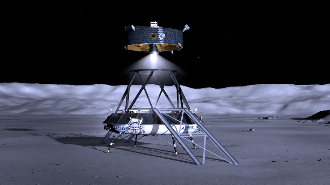 Airbus è stata selezionata per lo studio del lander lunare dell'ESA