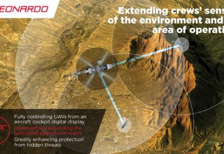 Leonardo: dimostrata la capacità di integrazione operativa tra un AW159 e un velivolo a pilotaggio remoto