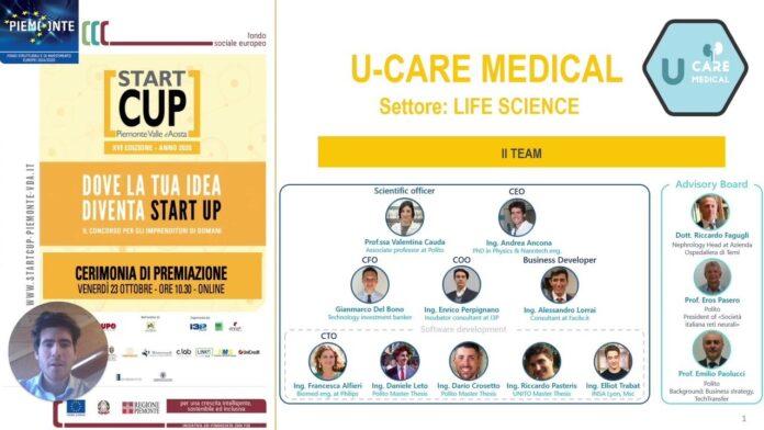 U-Care Medical vince Start Cup Piemonte Valle d'Aosta_startup