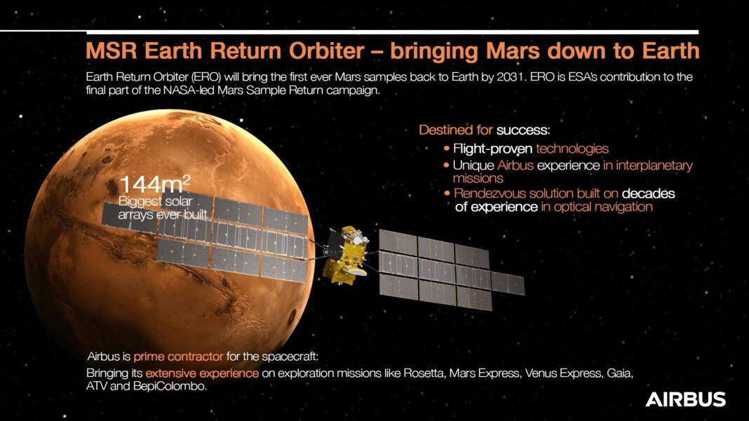 Airbus porterà sulla Terra i primi campioni di Marte per conto dell'ESA