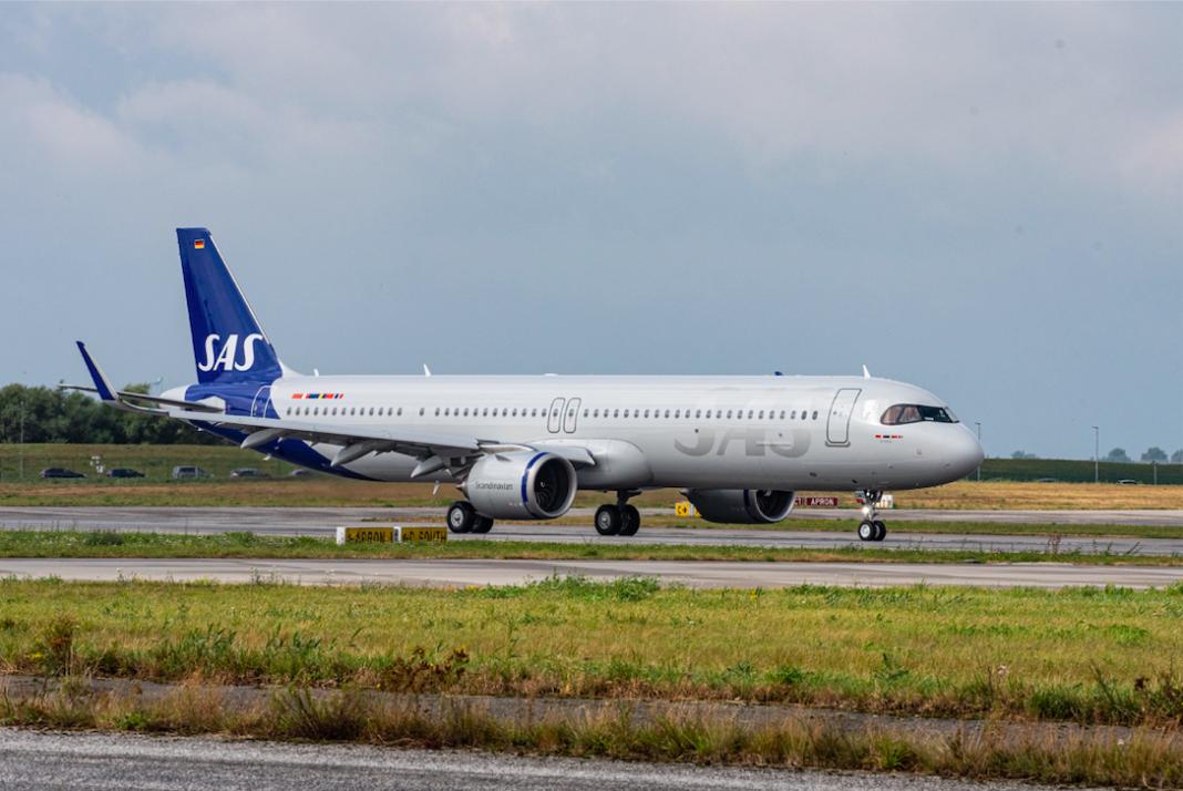 SAS prende in consegna il suo primo A321LR utilizzando carburante sostenibile