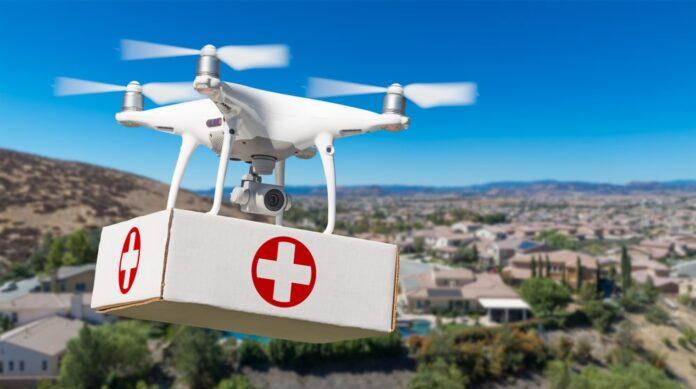 A Roma il primo trasporto di prodotti biomedicali con un drone