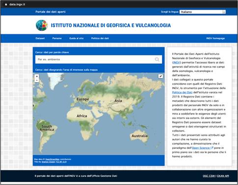 INGV: inaugurato il Portale dei Dati Aperti
