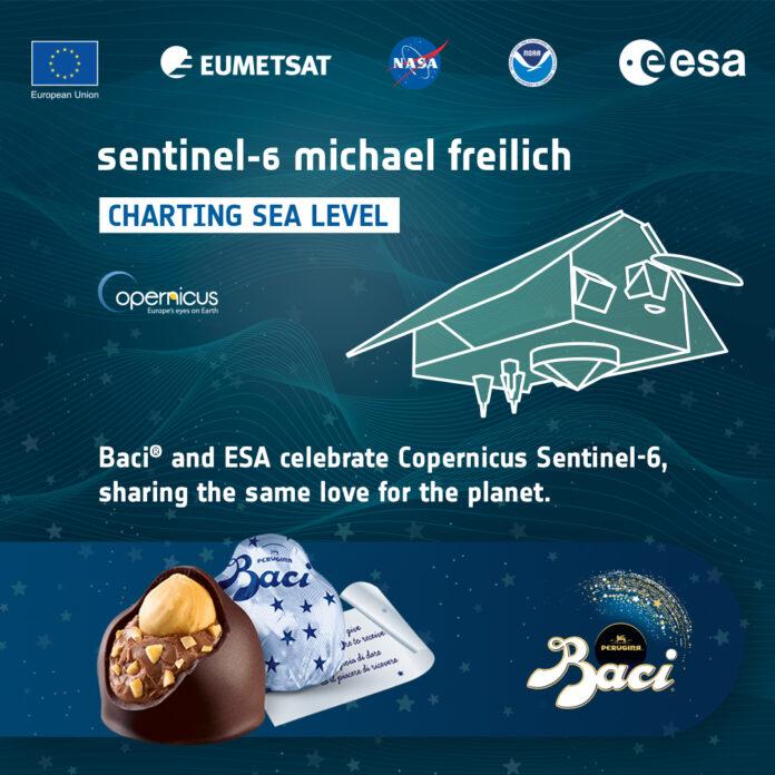 Baci Perugina per Esa in occasione del lancio di Copernicus Sentinel-6 Michael Freilich