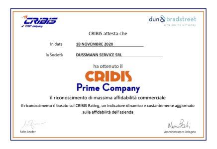 CRIBIS premia Dussmann con il Prime Company