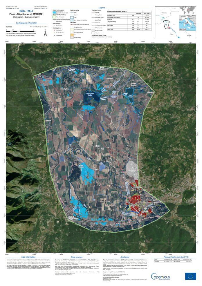 Gestione delle emergenze: e-GEOS fornirà mappe satellitari alla Protezione Civile della Regione Lazio