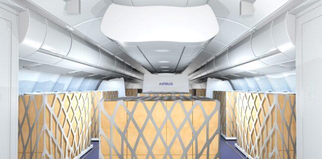 """Airbus e Lufthansa Technik partner per offrire soluzioni temporanee """"Cargo in the Cabin"""""""