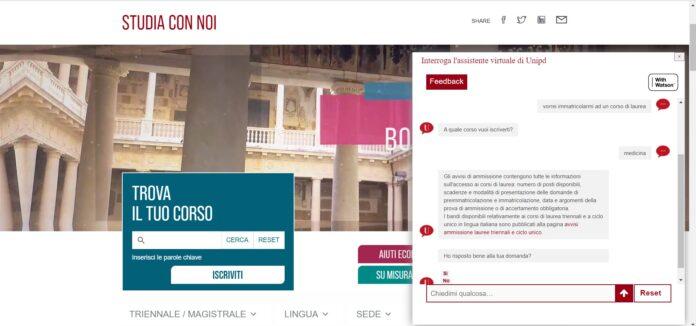 IBM e Università di Padova lanciano l' assistente virtuale