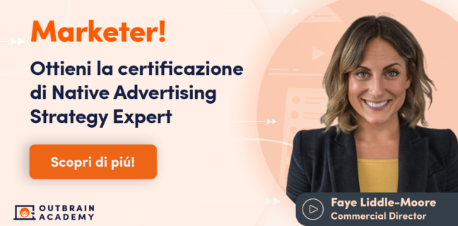 Outbrain lancia la Digital Academy in Italia