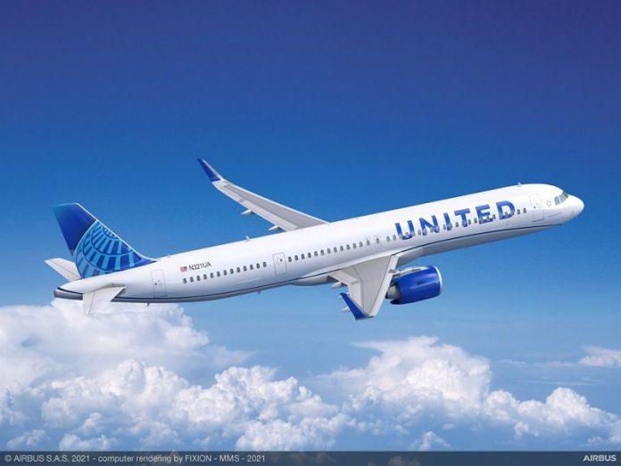 La United Airlines ordina 70 aeromobili Airbus A321neo