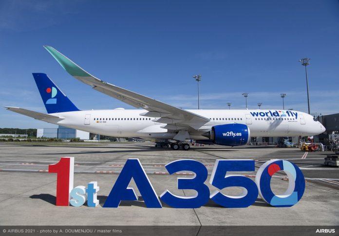 Consegna del primo Airbus A350 al nuovo vettore World2fly
