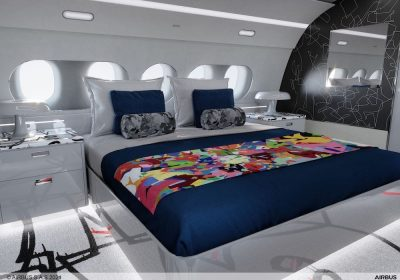 Airbus Corporate Jets (ACJ) e l'artista contemporaneo di fama mondiale Cyril Kongo, noto anche come Mr Colorful, hanno progettato insieme una cabina