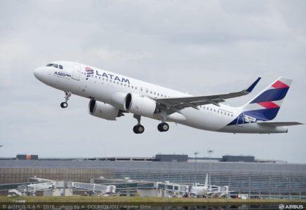 LATAM Airlines aggiornerà più di 200 aeromobili della Famiglia A320 con la funzione Descent Profile Optimisation di Airbus per il risparmio di carburante