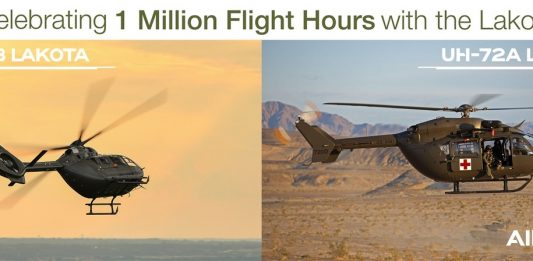 La flotta di Airbus Helicopters UH-72 Lakota supera un milione di ore di volo
